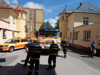 V Nemocnici Český Těšín zasahovali hasiči – naštěstí jen cvičně