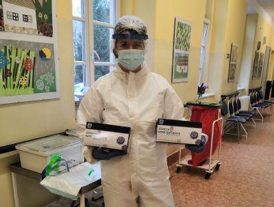Také vNemocnici AGEL Český Těšín již vyšetřují pacienty pomocí antigenních testů